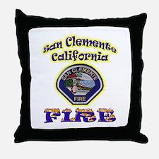 San Clemente Fire Throw Pillow