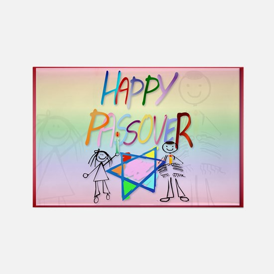 A Very Colorful Passover Rectangle Magnet