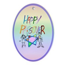 A Very Colorful Passover Ornament (Oval)