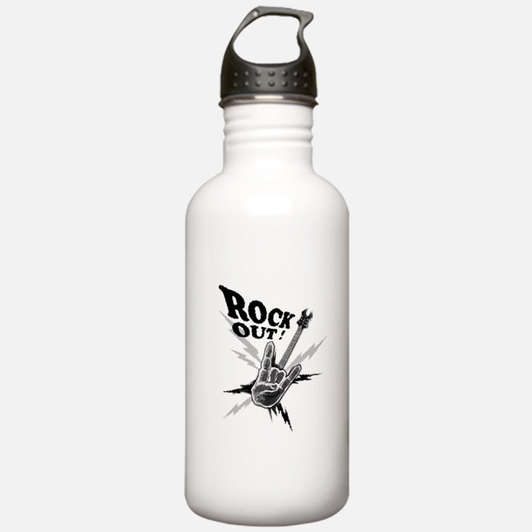 Rockout Guitar Water Bottle