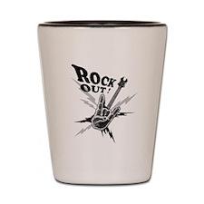 Rockout Guitar Shot Glass
