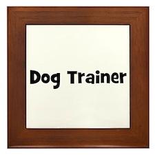 Dog Trainer Framed Tile