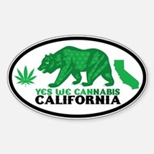 Yes We Cannabis California Decal