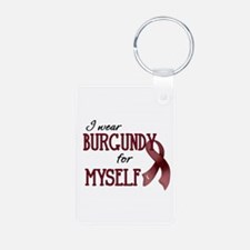 Wear Burgundy - Myself Aluminum Photo Keychain