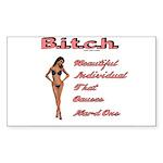 B.i.t.c.h. Rectangle Sticker