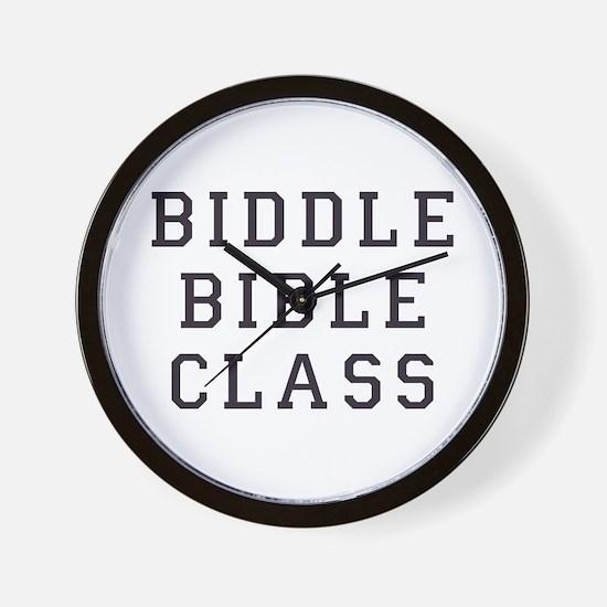 Biddle Bible Class Wall Clock