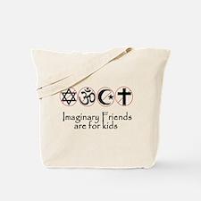 imaginary friends atheist sec Tote Bag
