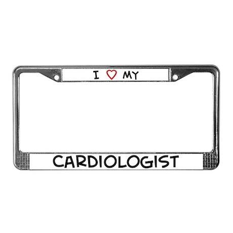 I Love Cardiologist License Plate Frame