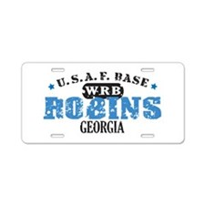 Robins Air Force Base Aluminum License Plate