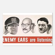 Enemy Ears are Listening Postcards (Package of 8)