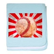 BASEBALL FOR JAPAN baby blanket