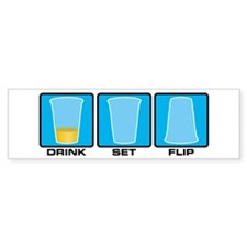 drink set flip Bumper Sticker