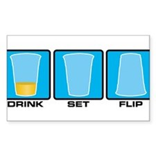 drink set flip Decal