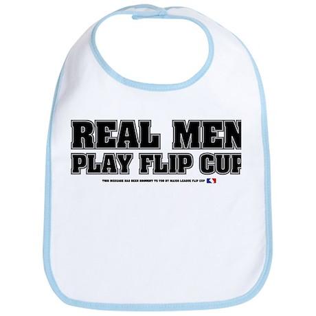 Real Men Play Flip CUp Bib