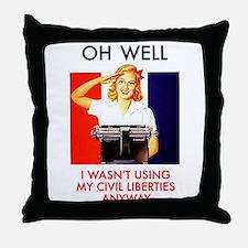 Civil Liberties Throw Pillow