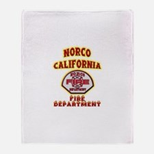 Norco Fire Department Throw Blanket