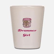 Drummer Girl Shot Glass