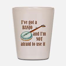 I've Got a Banjo Shot Glass