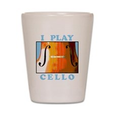 I Play Cello Shot Glass