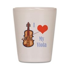 I Love My Viola Shot Glass