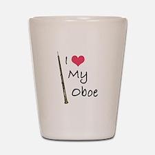 I Love My Oboe Shot Glass