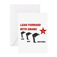 SUBMISSIVE OBAMA Greeting Card
