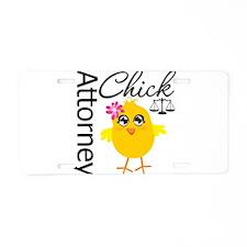 Attorney Chick Aluminum License Plate