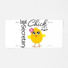 Legal Secretary Chick Aluminum License Plate