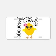 Project Manager Chick Aluminum License Plate