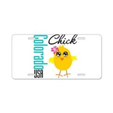 Colorado Chick Aluminum License Plate