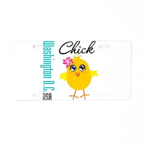 Washington DC Chick Aluminum License Plate