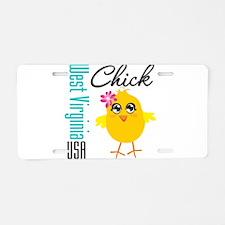 West Virginia Chick Aluminum License Plate