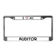 I Love Auditor License Plate Frame