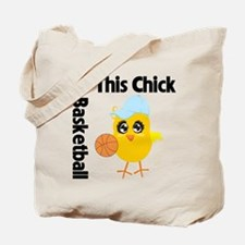 This Chick Loves Basketball Tote Bag