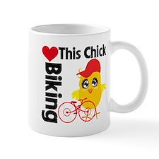 This Chick Loves Biking Mug