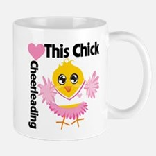 This Chick Loves Cheerleading Mug