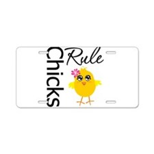 Chicks Rule Aluminum License Plate