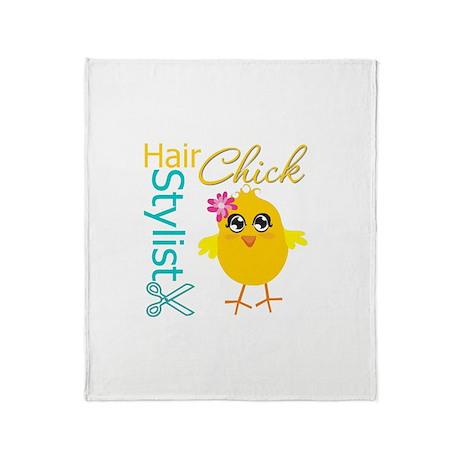 Hair Stylist Chick v2 Throw Blanket