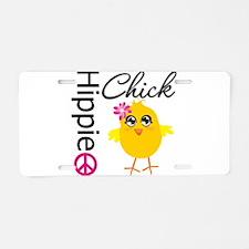 Hippie Chick v2 Aluminum License Plate