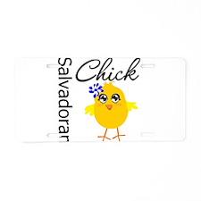 Salvadoran Chick Aluminum License Plate