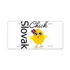 Slovak Chick Aluminum License Plate