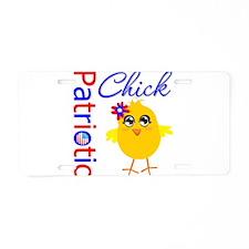 Patriotic Chick Aluminum License Plate