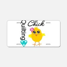 Quilting Chick Aluminum License Plate