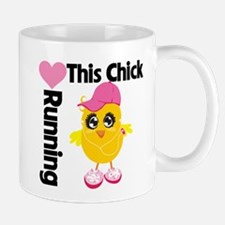 This Chick Loves Running Mug