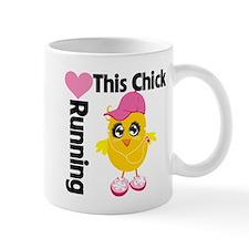 This Chick Loves Running Mug