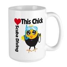 This Chick Loves Scuba Diving Mug