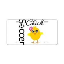 Soccer Chick v2 Aluminum License Plate