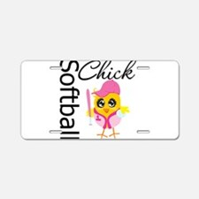 Softball Chick Aluminum License Plate