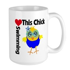 This Chick Loves Swimming v2 Mug