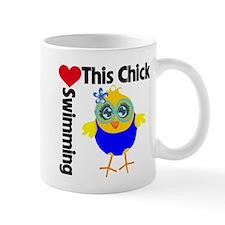 This Chick Loves Swimming v2 Mug